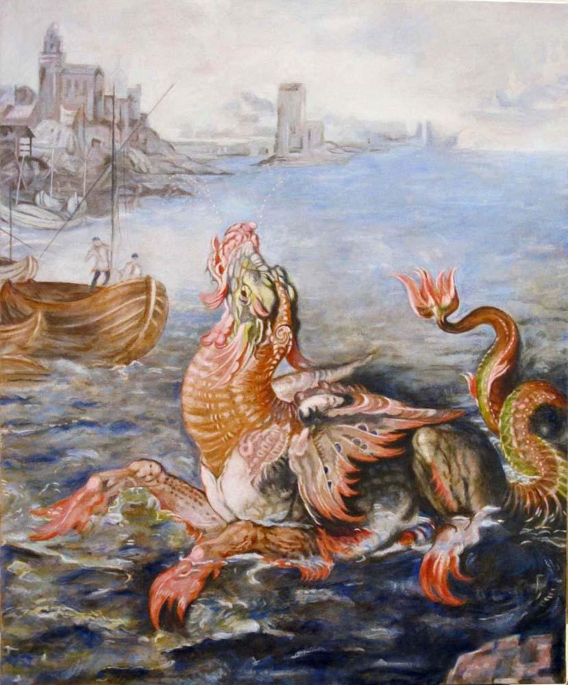 Andromède et le monstre marin, de Bertrand Claverie